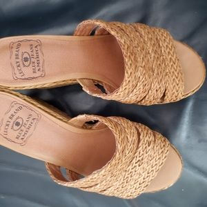 Lucky Wooven Wedges